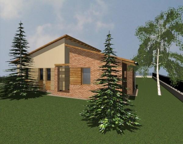 Tervezett családi ház látványterve