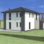 Mi 5 nap alatt építünk egy házat. Az Öné meddig épült?