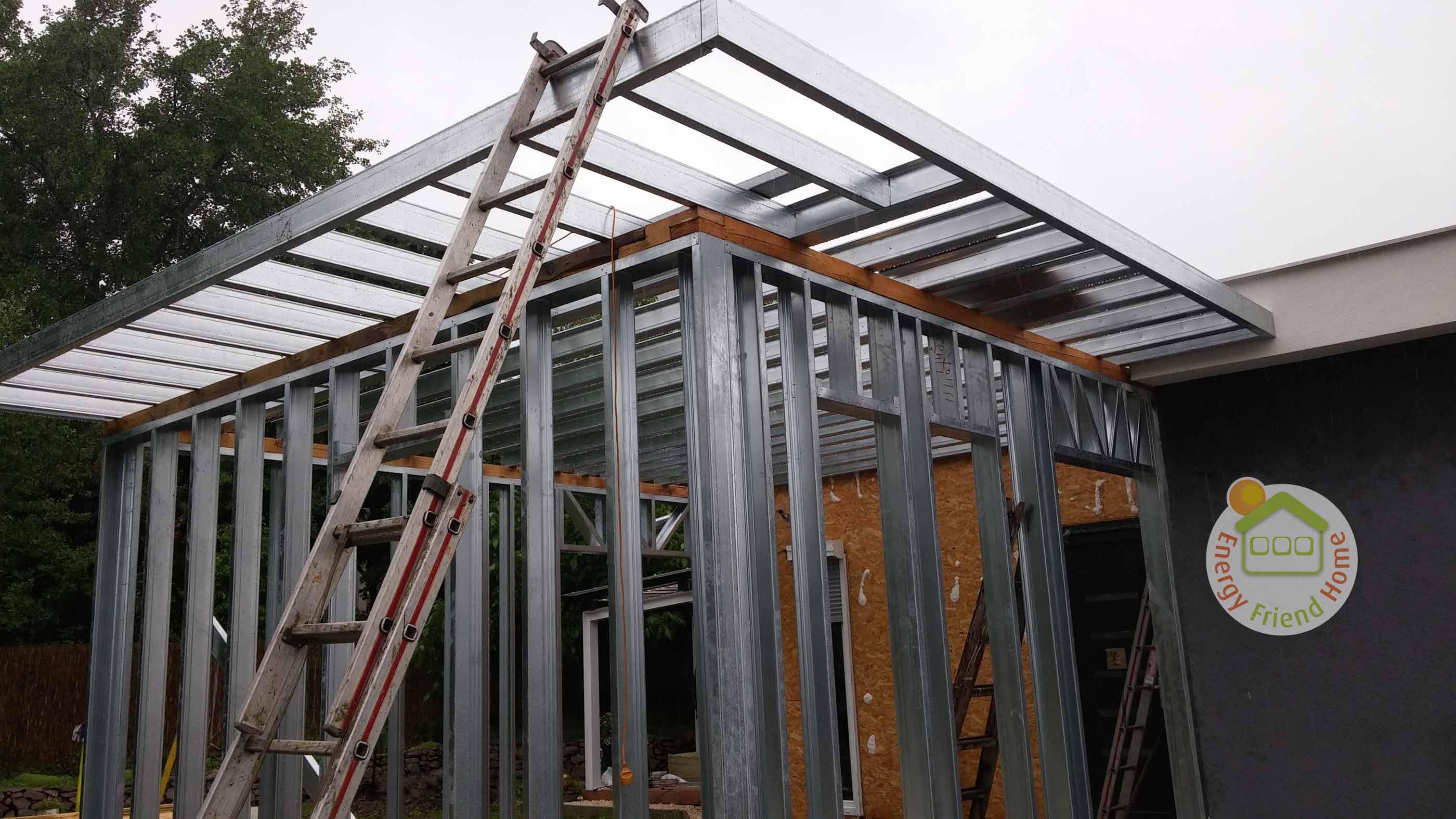 Családi ház bővítése két szobával, EnergyFriendHome készház technológiával